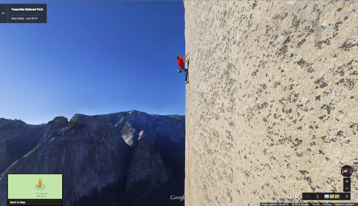 Scale Yosemite's El Capitan with Google Maps