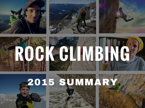 Rock Climbing 2015 Summary