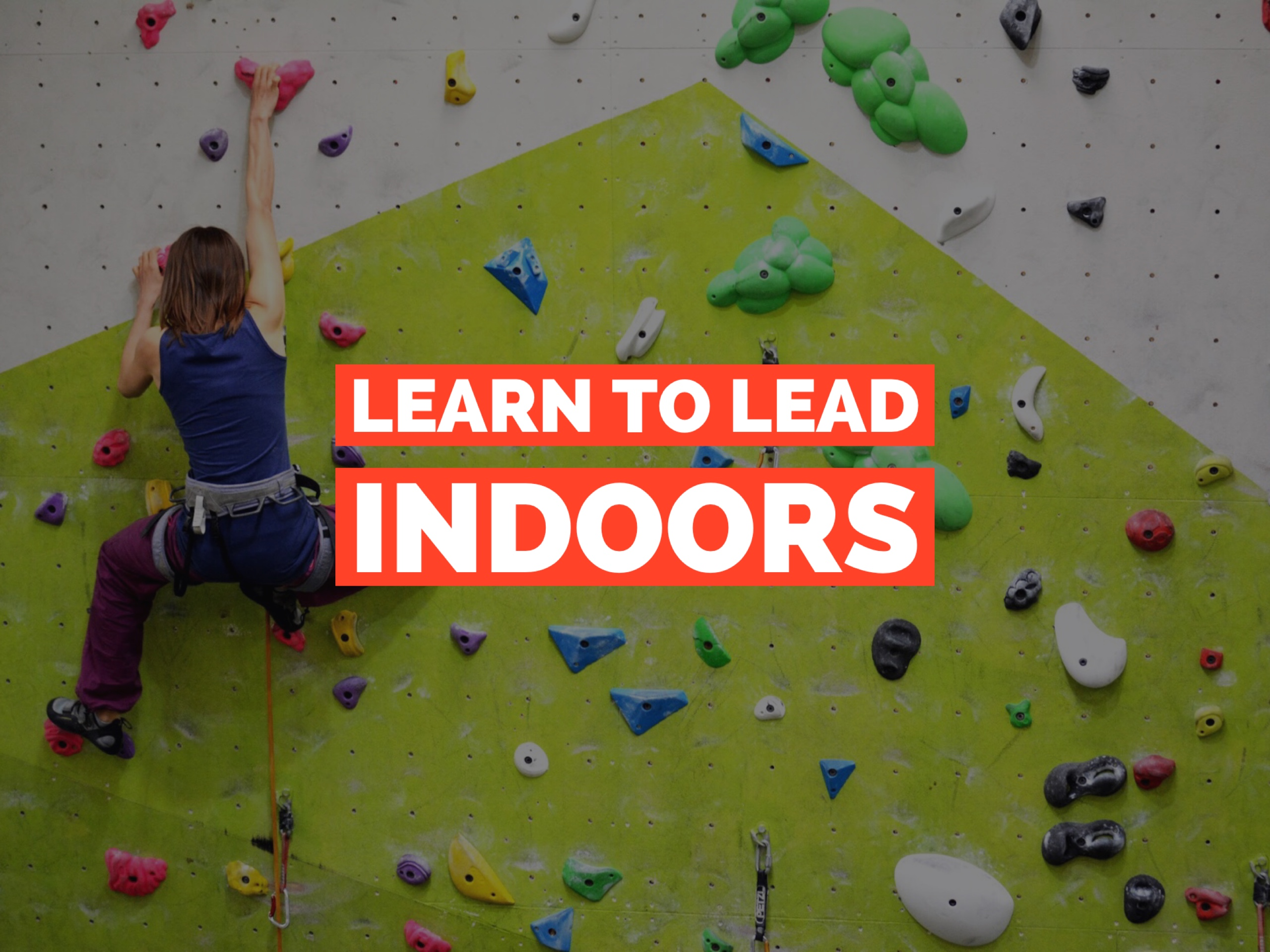 learn to lead indoor lead climbing course
