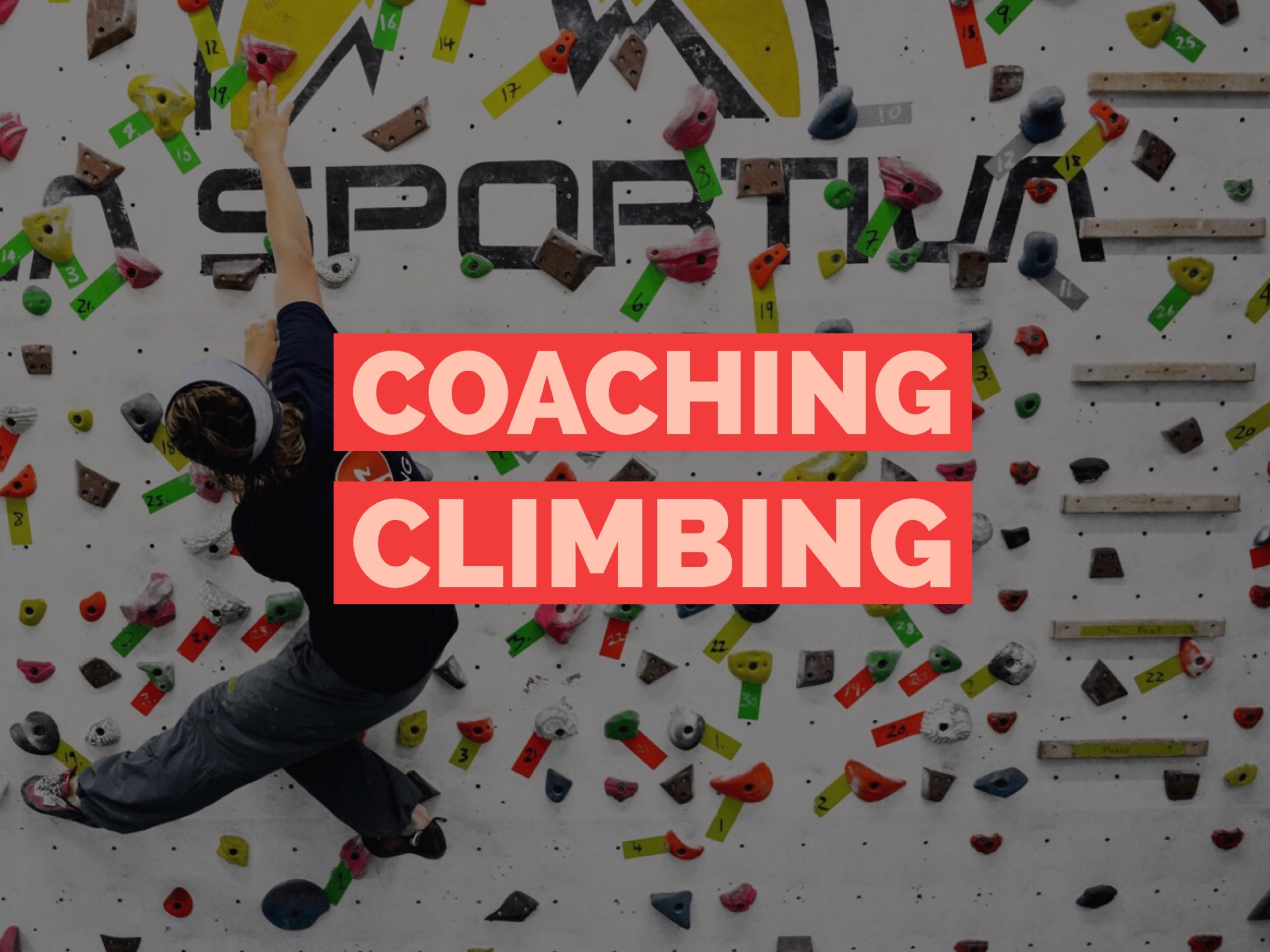 Coaching Climbing Climbing Dojo coaching for climbers